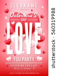 poster of  valentine day in... | Shutterstock .eps vector #560319988