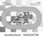 raceway. race cars   Shutterstock .eps vector #560324740