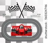 raceway. race cars | Shutterstock .eps vector #560324746