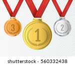 set of gold  silver and bronze... | Shutterstock .eps vector #560332438