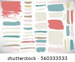 big set of grunge brush stroke. ... | Shutterstock .eps vector #560333533