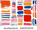 big set of grunge brush stroke. ... | Shutterstock .eps vector #560333554