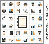 set of office icons. contains... | Shutterstock .eps vector #560333698