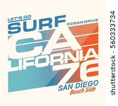 california sport surf... | Shutterstock .eps vector #560333734