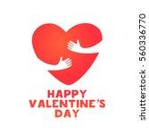 valentine's day banner  label ... | Shutterstock .eps vector #560336770