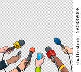 journalism concept vector... | Shutterstock .eps vector #560339008