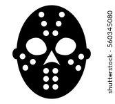goalkeeper helmet icon. simple...