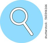 search sign icon magnifier... | Shutterstock .eps vector #560346166