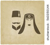 turkish man and woman old... | Shutterstock . vector #560350144