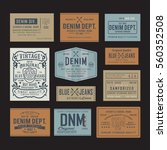 denim embroidery typography ... | Shutterstock .eps vector #560352508