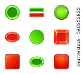 button icons set. cartoon...