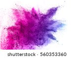 abstract powder splatted on... | Shutterstock . vector #560353360