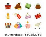 vector business shopping icons... | Shutterstock .eps vector #560353759