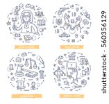 doodle vector concepts of... | Shutterstock .eps vector #560356129