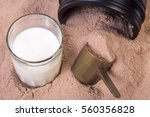 macro image of protein for... | Shutterstock . vector #560356828