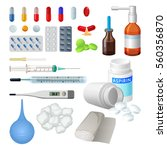 set of vector medical objects... | Shutterstock .eps vector #560356870