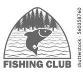 fishinf club logo template | Shutterstock .eps vector #560358760