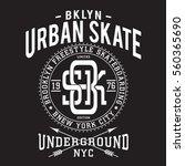 skate board sport typography ... | Shutterstock .eps vector #560365690
