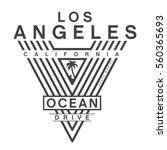 california ocean drive... | Shutterstock .eps vector #560365693
