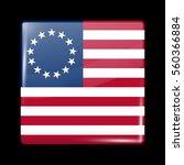 american betsy ross flag.... | Shutterstock .eps vector #560366884