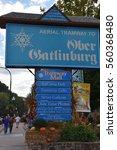 gatlinburg  tn   oct 3  aerial... | Shutterstock . vector #560368480
