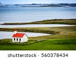 iceland  lonely red church in...   Shutterstock . vector #560378434