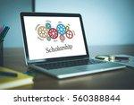 gears and scholarship mechanism ... | Shutterstock . vector #560388844