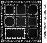 decorative calligraphic frames... | Shutterstock .eps vector #560389768