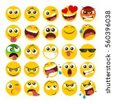 set of emoticons with different ...