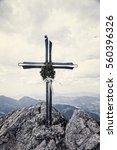 cross to big rozsutec in mala... | Shutterstock . vector #560396326
