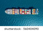 container ship in export and... | Shutterstock . vector #560404090