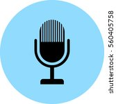 microphone vector icon | Shutterstock .eps vector #560405758