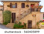 romantic historical house... | Shutterstock . vector #560405899