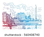 view of the art bay from... | Shutterstock .eps vector #560408740