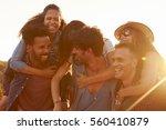 three couples having fun...   Shutterstock . vector #560410879