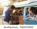 family on a road trip making a... | Shutterstock . vector #560410960