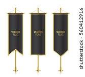 black elegant vertical flag... | Shutterstock .eps vector #560412916