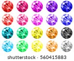set of twenty multicolored gems ... | Shutterstock .eps vector #560415883