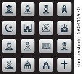 set of 16 efaith icons....