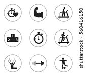 set of 9 training icons....
