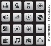 set of 16 mp3 icons. includes...