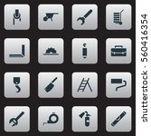 set of 16 equipment icons....