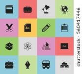 set of 16 education icons....