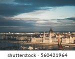 budapest cityscape at sunrise ... | Shutterstock . vector #560421964