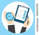 time management for businessman ... | Shutterstock .eps vector #560422393
