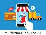 ecommerce online store concept... | Shutterstock .eps vector #560422834