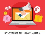 email blast marketing promotion | Shutterstock .eps vector #560422858
