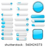 white and blue menu buttons.... | Shutterstock .eps vector #560424373