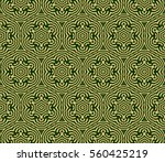 green and gold color seamless... | Shutterstock . vector #560425219