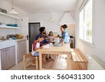 mum bringing food to the...   Shutterstock . vector #560431300